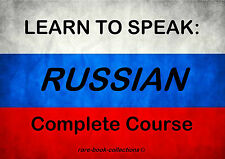 LEARN TO SPEAK RUSSIAN FAST LANGUAGE COURSE - 4.5 HRS AUDIO MP3 + 4 BOOKS ON DVD