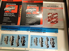 1999 Toyota 4RUNNER 4 RUNNER Service Shop Repair Manual Set W EWD + AC BOOKS OEM