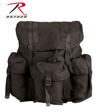 Black Military Style Heavy Duty Canvas Mini Alice Rucksack Backpack Rothco 2477
