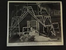 RARE VINTAGE CIRCUS ACT: Lion Tamer Baron Julius Von Uhl Photo