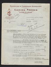 """VIVIER-au-COURT (08) USINE de FERRONNERIE QUINCAILLERIE """"CAMION Freres"""" en 1951"""