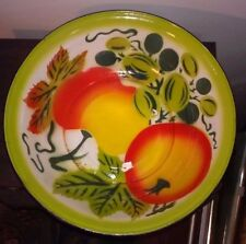 Vintage 50's Era Porcelain Enamelware FRUIT Bowl