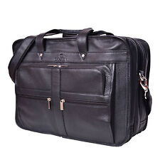 Vintage Volos Genuine black eco-friendly laptop real cow leather bags briefcase