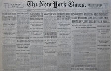 7-1932 July 17 IRISH FEARS GROW AS EXPORTS DECLINE SENATE FLURRY DRY LAW REPEAL
