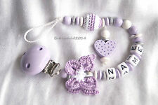 Schnullerkette mit Namen, Dummy chain with name, Pacifier clip, Pacifier chain
