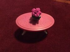 Barbie Townhouse Coffee Table Flower Pot Vase Replacement Parts 3 Story Roses