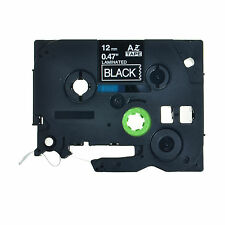 """White on Black Label Tape Fit for Brother TZ TZe 335 Tze335 P-Touch 26.2ft 0.47"""""""