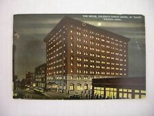 VINTAGE POSTCARD OF THE SECOR, TOLEDO'S FINEST HOTEL BY NIGHT IN TOLEDO, OH 1912