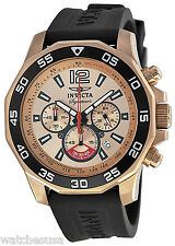 Invicta 7432 Signature II Rose Gold Dial Rubber Strap Chronograph Men's Watch