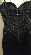 Black Bebe Dress size small Satin looking Bustier Corset Style