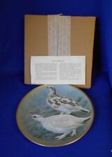 Collector Plate 1978 GAME BIRDS OF THE WORLD Rock Ptarmigan Basil Ede 9""