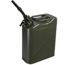 New 20L 5Gallon NATO Style Green Jerry Can Oil Fuel Gas Steel Tank w/ Free Spout