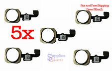 Touch ID Sensor Home Button Key Flex Cable for iPhone 6 & 6 Plus Gold Lot 5 HQ