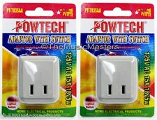 2X Single Outlet AC Wall Plug On/Off LIGHTED POWER SWITCH Electrical Adapter