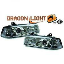 LHD Projector Headlights Pair LED Dragon DRL Lights Clear Chrome BMW 3 Series E3