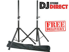 QTX Sound Speaker Stands - PAIR - With Heavy Duty Carry Bag (180.550) *FREE P&P*