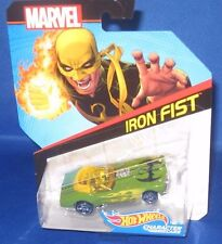 MARVEL AVENGERS COLLECTOR HOT WHEELS IRON FIST CHARACTER CARS, NEW