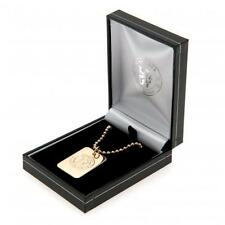 Chelsea Fc Gold Plated Dog Tag & Chain in Gift Box Present Football Jewellery