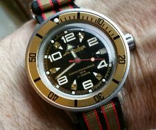 "VOSTOK AMPHIBIA MODDED 200M DIVE WATCH ""GOLDFINGER"""