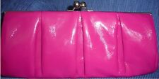 NWT EXPRESS PURPLE SHINE CLUCH BAG WITH  SMALL DEFECT ON THE ONE SAME SIDES NRE