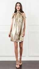 NWT Rachel Zoe Gold  Silk Blend Dress Size 6 $395 OMG!!!