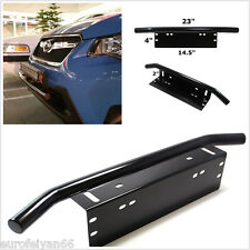 Bull Bar Black Metal Car Front Bumper License Plate Headlight Bracket Holder Kit
