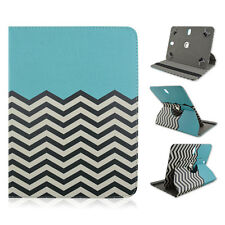 "For Blackberry Playbook 7"" INCH Tablet Chevron Blue Case Cover Rotating"