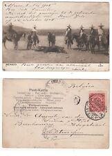México, granjero m. sombrero taurinos, corrida de toros bullfight mexicana rppc 1905