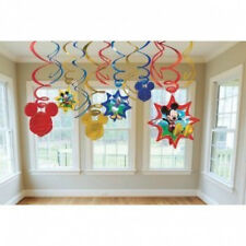 Mickey Mouse Party Swirl Ceiling Decorations