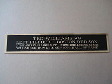 Ted Williams Red Sox Nameplate For A Baseball Jersey, Bat Or Hat Case 1.5 X 6