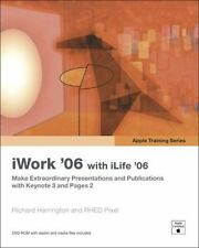 Apple Training Series: iWork 06 with iLife 06 Harrington, Richard Paperback