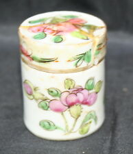 Antico in miniatura cinese Lidded POT Famille Rose entrambe le parti, firmato in rosso (AF)