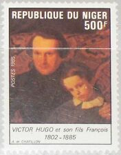 NIGER 1985 939 686 Victor Hugo & Son Dichter Poet Painting by Chatillon MNH