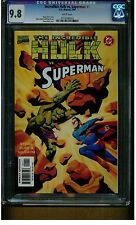 SUPERMAN VS. HULK #1 CGC 9.8 MINT WHITE PAGES 1999 DC MARVEL COMICS BATTLES BLUE
