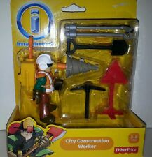 Fisher Price Imaginext  City Construction Worker  and Tools Ages 3-8