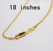 """18"""" 1X Wholesale Fashion Jewelry 18K Gold Filled Beads Necklaces Chains Pendants"""