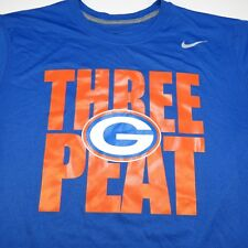 NEW NIKE DRI FIT BISHOP GORMAN HIGH SCHOOL FOOTBALL STATE CHAMPS T SHIRT L blue