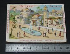 CHROMO CHOCOLAT POULAIN 1900 EXPOSITION UNIVERSELLE PARIS PAVILLON ALGERIE