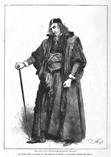 HENRY IRVING as Shylock in the Merchant of Venice - Antique Print 1880