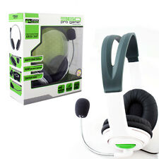 Xbox 360 Live Pro Gamer Headset with Dual Earphone + Mic White Stereo (KMD) NEW