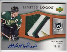 05/06 UD THE CUP LIMITED LOGOS MIKE MODANO 4C GU JERSEY PATCH AUTO 32/50