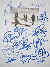 Serenity Signed Script X15 Nathan Fillion Firefly Summer Glau Torres reprint