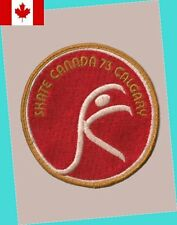 1973 Calgary Alberta Skate Canada Competition Patch VG - VERY SCARCE FIRST YEAR!