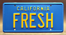 The Fresh Prince of Bel Air / Taxi / FRESH *STAMPED* Prop Replica License Plate