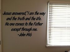 John 14:6 Bible Verse Christian I am the Way Vinyl Wall Decal Quote Sticker
