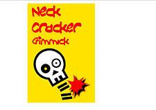 Neck Cracker  funny magic trick. close up