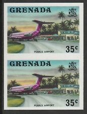 Grenada (431) 1975 Pearls Airport 35c IMPERFORATE PAIR u/m