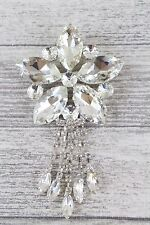 Large 5 Diamond Star With Tails Encrusted Diamante Brooch Bouquet Wedding Cake