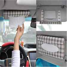 Auto Car sun visor Tissue box accessories holder Paper napkin clip- PU leather J