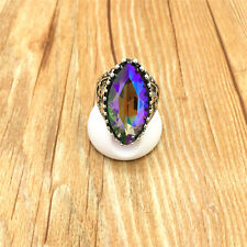 Jewelry 316L Stainless Steel Fashion Design Purple Crystal Ring Size 9 S9WC2